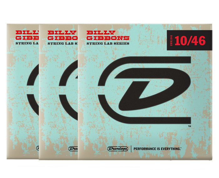 Dunlop Rev Willy's Lottery Brand 10-46 Electric Guitar Strings 3-Pack