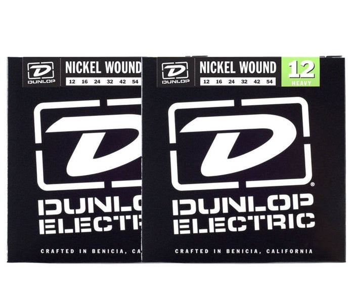 Dunlop DEN1254 Nickel-plated Steel Electric Guitar Strings 2-Pack