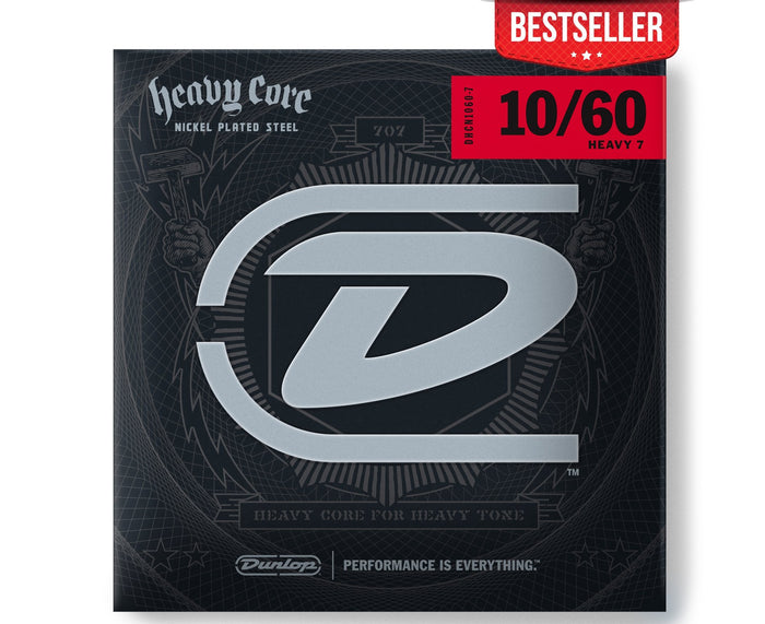 Dunlop Heavy Core 10-60 Heavy 7-String Electric Guitar Strings