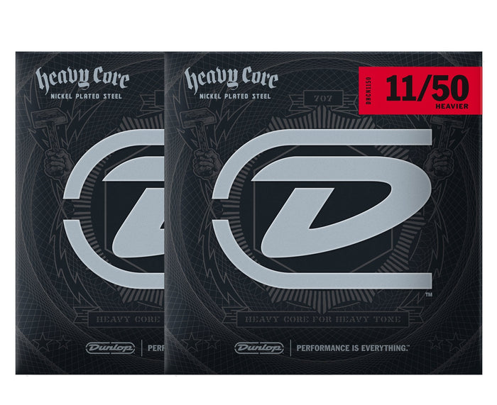Dunlop Heavy Core 11-50 Heavier Electric Guitar Strings 2-Pack