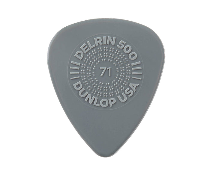 Dunlop Prime Grip Delrin 500 Guitar Picks  .71mm - 12 Pack