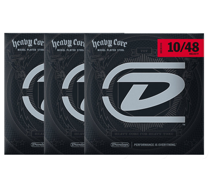 Dunlop Heavy Core 10-48 Heavy Electric Guitar Strings 3-Pack