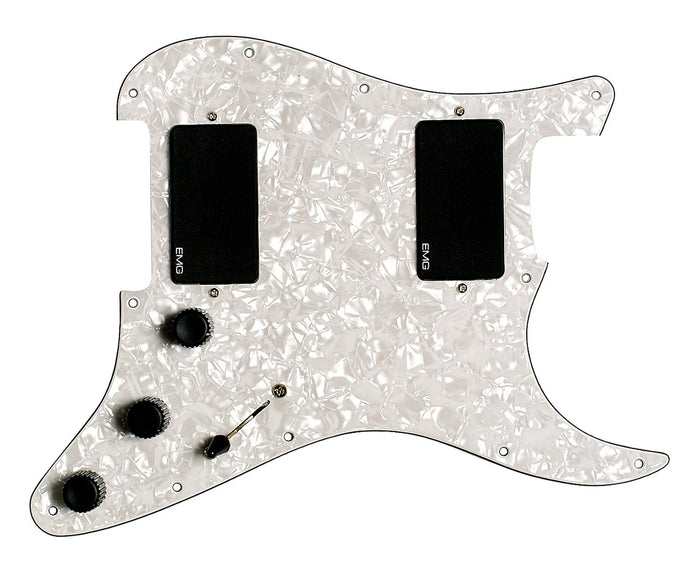 EMG Kirk Hammett KH21 Active Preloaded Pickguard White