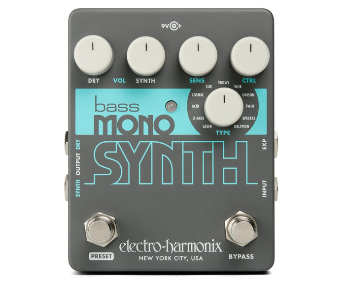 Electro-Harmonix EHX Bass Mono Synth Synthesizer Guitar Pedal