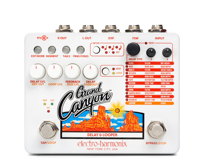 Electro-Harmonix EHX Grand Canyon Delay And Looper Pedal