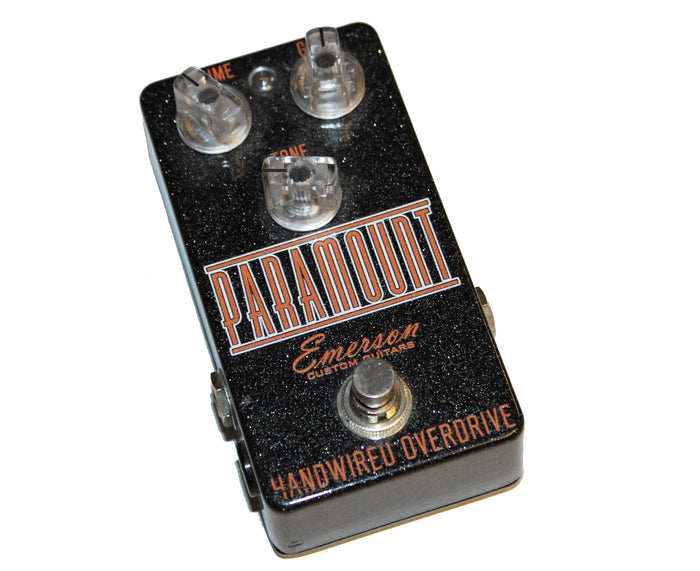 Emerson Paramount Handwired Analog Overdrive - Limited Edition Black Sparkle