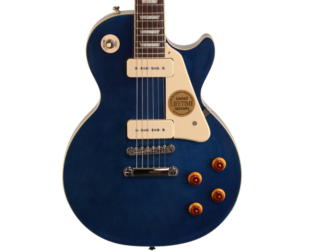Epiphone Limited Edition 1956 Les Paul Standard P90 Electric Guitar in Chicago Blue - Megatone Music