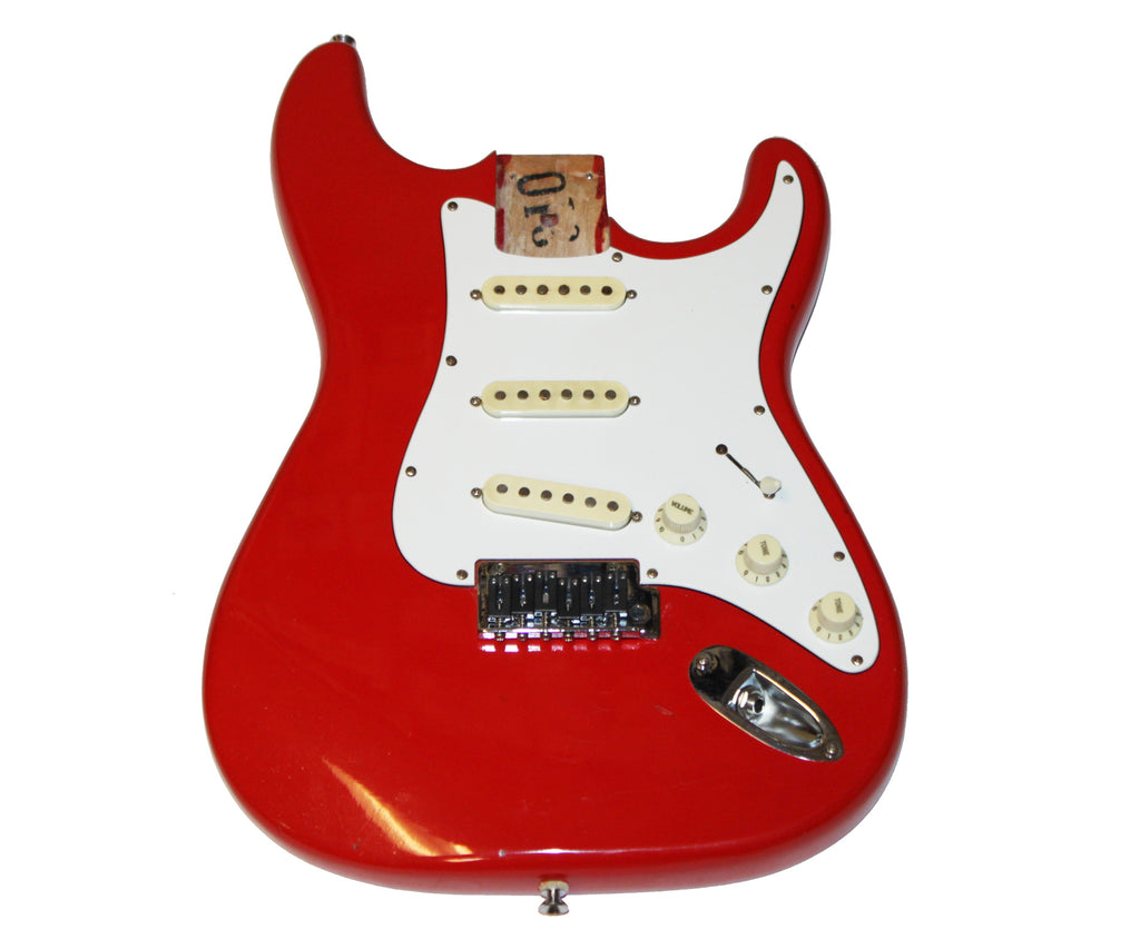 Epiphone Strat Style Loaded Electric Guitar Body in Fire Engine Red