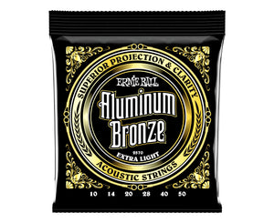 Ernie Ball 2570 Aluminum Bronze Acoustic Strings .010-.050