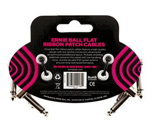 "Ernie Ball 3"" Flat Ribbon Patch Cables 3-Pack - Megatone Music"