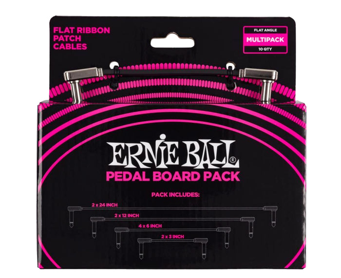 Ernie Ball Flat Ribbon Patch Cables Pedalboard - Multi Pack