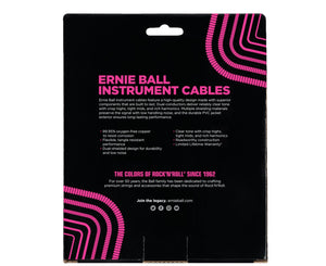 "Ernie Ball 30' Ultraflex Coiled Black Guitar Cable Straight to Straight 1/4"" Instrument Cables Ernie Ball"