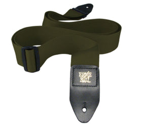 "Ernie Ball Poly Pro 2"" Guitar Or Bass Strap In Olive Guitar Straps Ernie Ball"