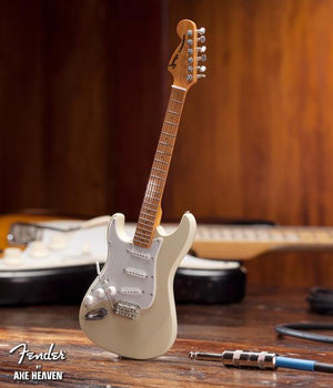 Axe HeavenFender™ Cream Reverse Headstock Strat™ Miniature Guitar Replica - Officially Licensed - Megatone Music