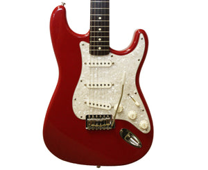 Fender American Made Squier Stratocaster Electric Guitar In Dakota Red