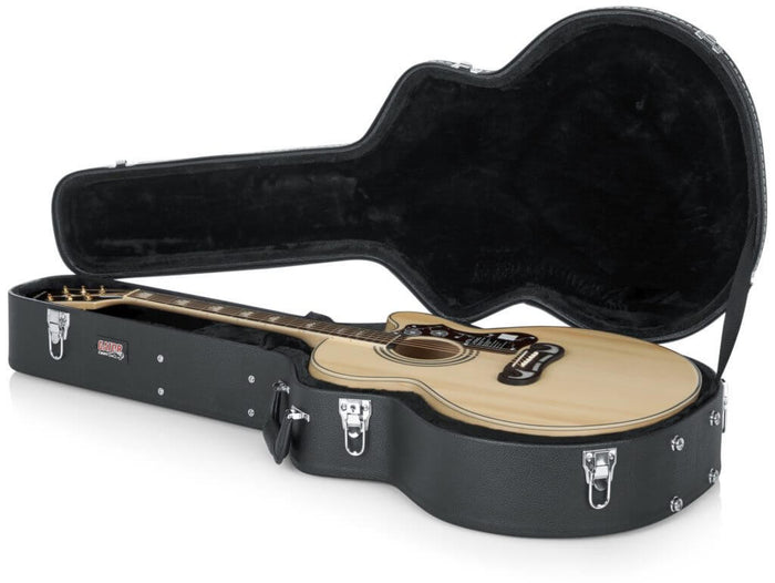 Gator Cases Deluxe Wood Serieds Jumbo Acoustic Guitar Case