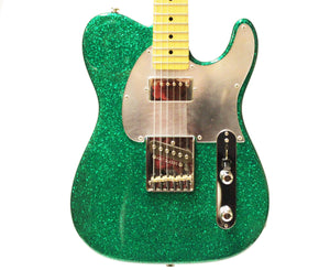 G&L ASAT Classic Bluesboy Electric Guitar in Green Metal Flake w/ Case 2014