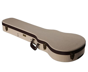 "Gator Cases Journeyman Les Paul ""Style"" Guitars Deluxe Wood Case, Beige - Megatone Music"