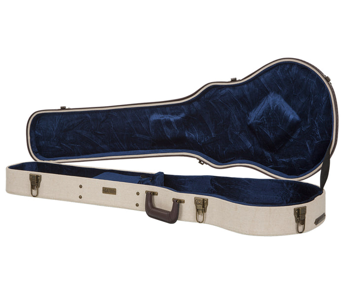 "Gator Cases Journeyman Les Paul ""Style"" Guitars Deluxe Wood Case, Beige"