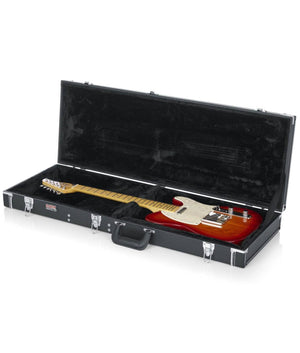 Gator Deluxe Wood Case for Electric Guitars Black Guitar Cases Gator