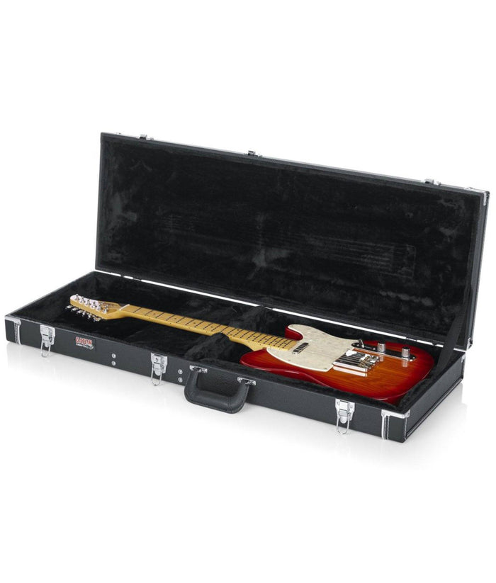 Gator Deluxe Wood Case for Electric Guitars Black
