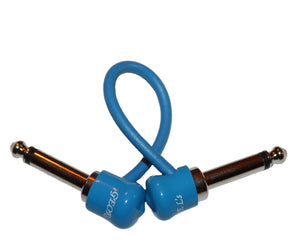 "George L's 6"" Inch Pre-Made Nickel Effects Cable in Blue on Blue - Megatone Music"