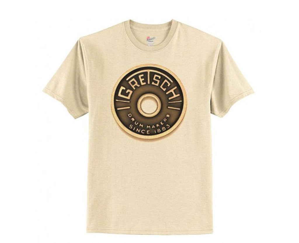 Gretsch Drums Round Badge Tee XL Off-White - Megatone Music