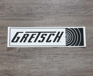 Gretsch Great Gretsch Sound Logo Bumper Sticker Decals/Stickers Gretsch
