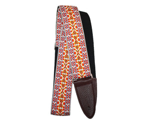 Jodi Head NYC Hootnanny Vintage Woven Orange Custom Guitar Strap - Megatone Music