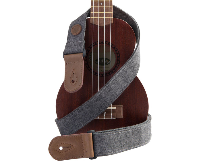 Kala Sonoma Coast Ukulele Strap in Goat Rock Gray