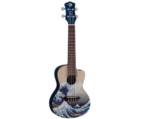 Luna Great Wave Concert Ukulele w/Gigbag