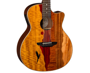 Luna Vista Eagle 12 Tropical Wood 12-String Acoustic-Electric Guitar w/ Case - Megatone Music