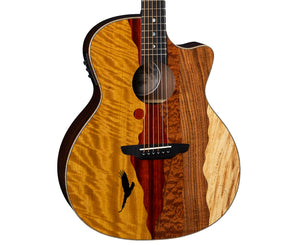 Luna Vista Eagle Tropical Wood Acoustic-Electric Guitar w/ Case - Megatone Music