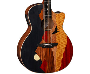 Luna Vista Wolf Tropical Wood Acoustic-Electric Guitar w/ Case - Megatone Music