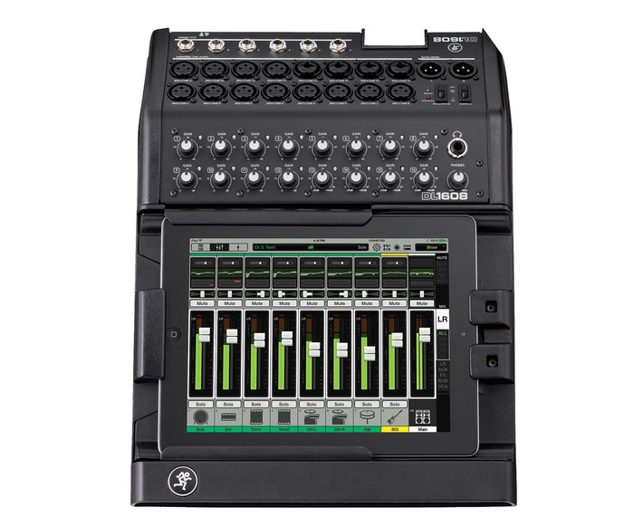 Mackie DL1608 16-Ch Digital Mixer w/iPad Control (Lightning Dock for 4th Gen iPad)