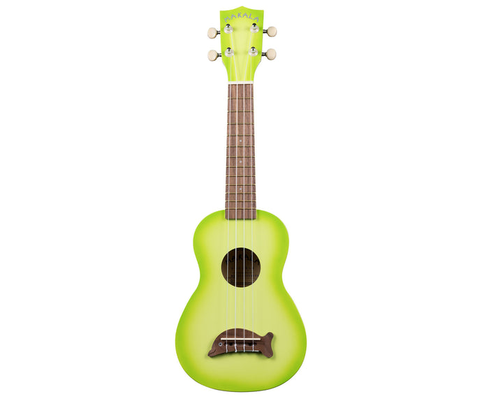 Makala Green Apple Burst Soprano Dolphin Ukulele