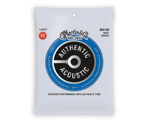 Martin Strings 80/20 Bronze Acoustic Guitar Strings 12-54 MA140 - Megatone Music