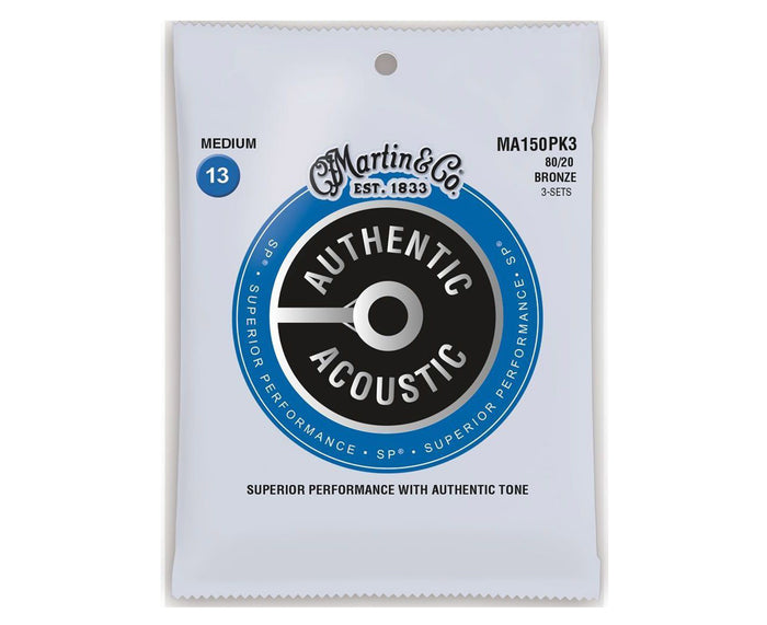 Martin Strings 80/20 Bronze Acoustic Guitar Strings 13-56 MA150