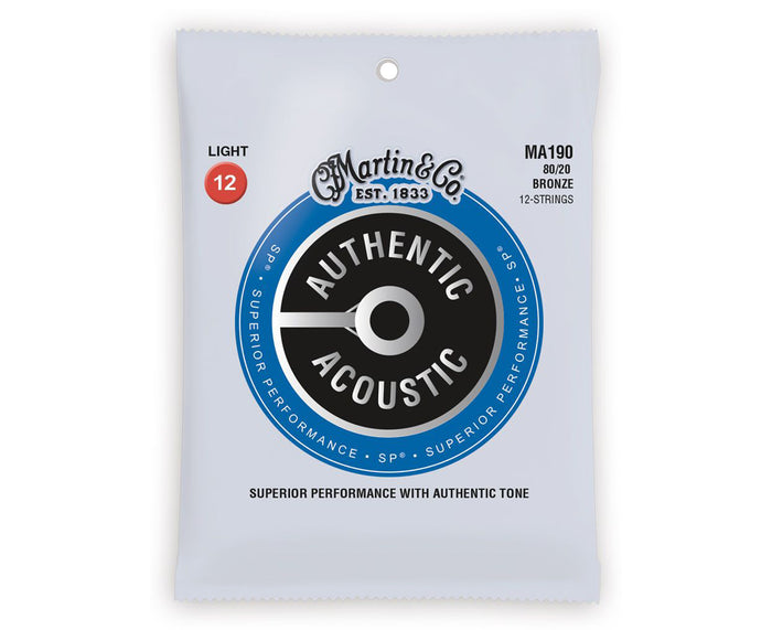 Martin Strings 80/20 Bronze 12- String Acoustic Guitar Strings MA190