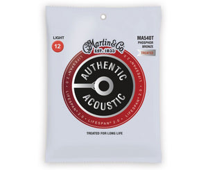 Martin Strings Phosphor Bronze Treated Acoustic Guitar Strings 12-54 MA540T - Megatone Music