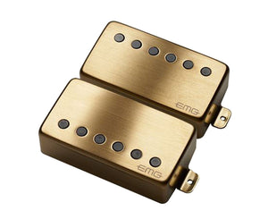 "EMG JH James Hetfield ""Het"" Set Active Humbucker Guitar Pickup Set in Brushed Gold Pickups EMG"