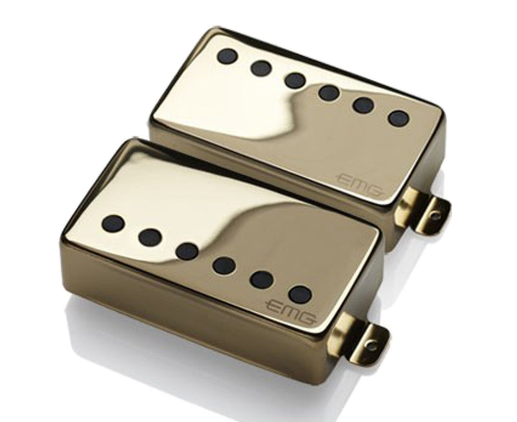 "EMG JH James Hetfield ""Het"" Set Active Humbucker Guitar Pickup Set in Gold - Megatone Music"