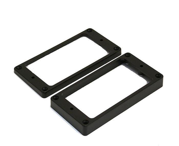 Mojotone Humbucking Pickup Rings Slanted, Flat Bottoms, Black Plastic