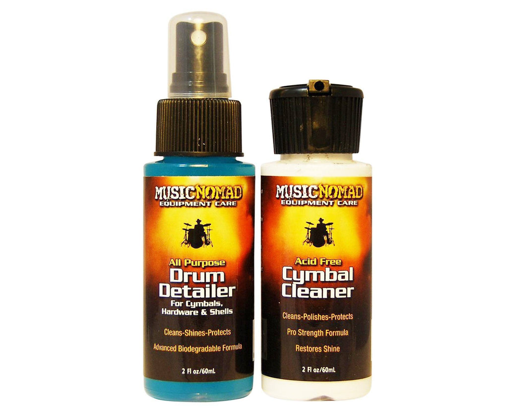 MusicNomad Drum Detailer & Cymbal Cleaner Combo Pack 2 oz Trial Size MN117 - Megatone Music