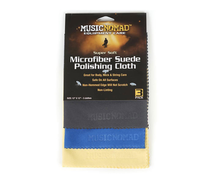 Music Nomad MN203 Microfiber Suede Polishing Cloth (3 Pack)
