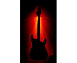 MuzicLight Red Light Guitar Wall Hanger