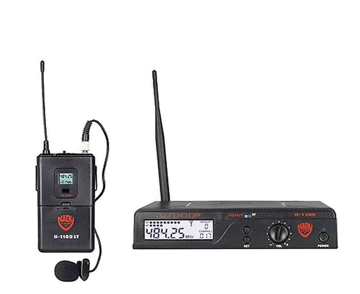 Nady U-1100 UHF Wireless System LM-14/O Omnidirectional Lavalier Microphone