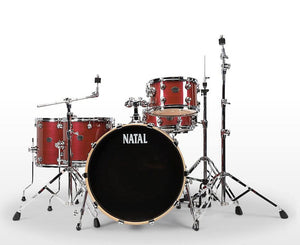 Natal Arcadia TJ Traditional Jazz 4-Piece Shell Pack in Red Strata Drum Sets Natal