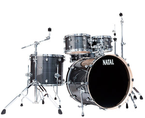 Natal Drums Arcadia UF22 5-Piece Drum Set with 22 in. Bass Drum Gray Strata Drum Sets Natal