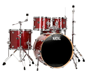 Natal Drums Arcadia UF22 5-Piece Drum Set with 22 in. Bass Drum Red Strata Drum Sets Natal